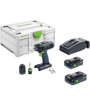 Аккумуляторная дрель-шуруповёрт Festool T 18+3 HPC 4,0 I-Plus