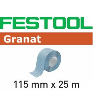 Шлифовальный материал Festool Granat P100, рулон 25 м 115x25m P100 GR