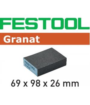 Губка шлифовальная Festool Granat 100 CO, компл. из 6 шт. 69x98x26 100 CO GR/6